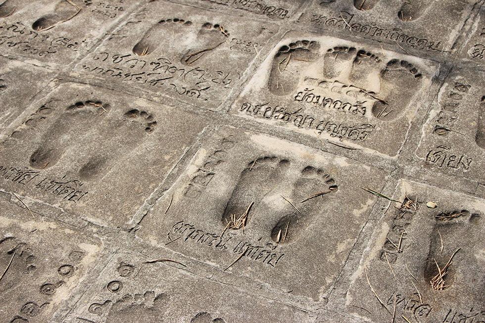 Pad voeten Wat Samphran