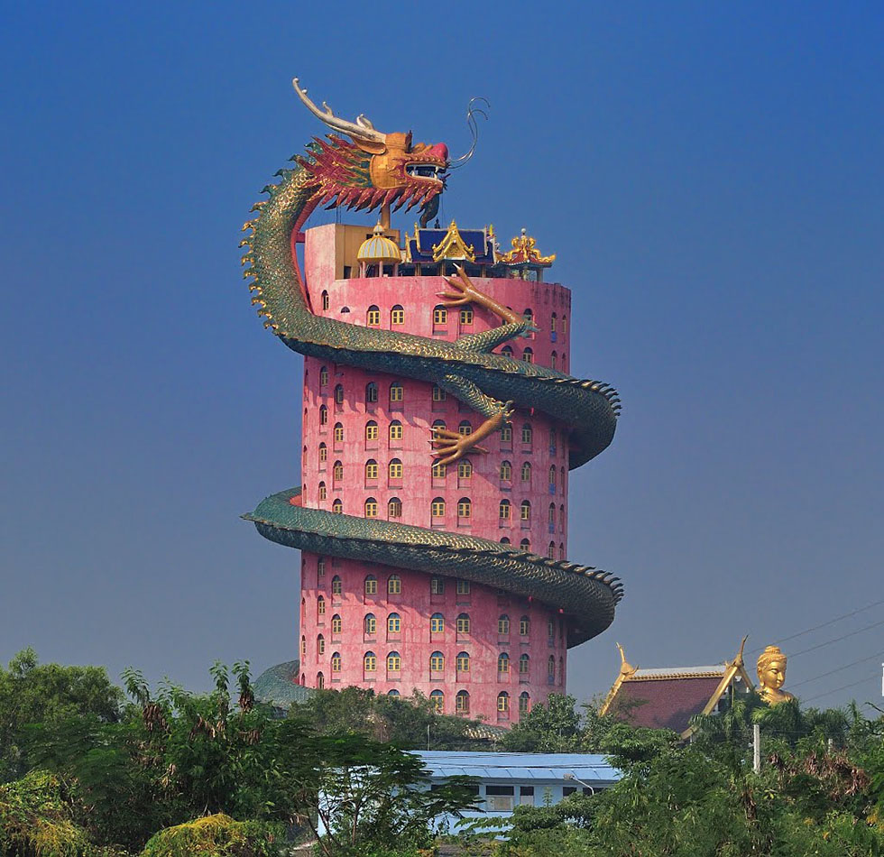 Wat Samphran Tempel Bangkok - Afstand