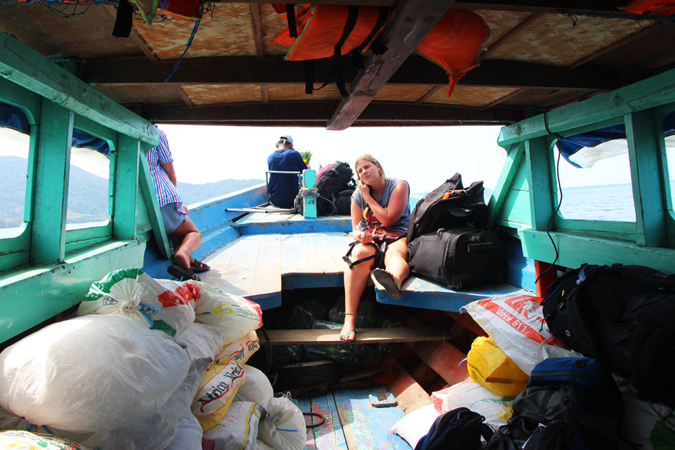 Slow boat naar Koh Chang Noi