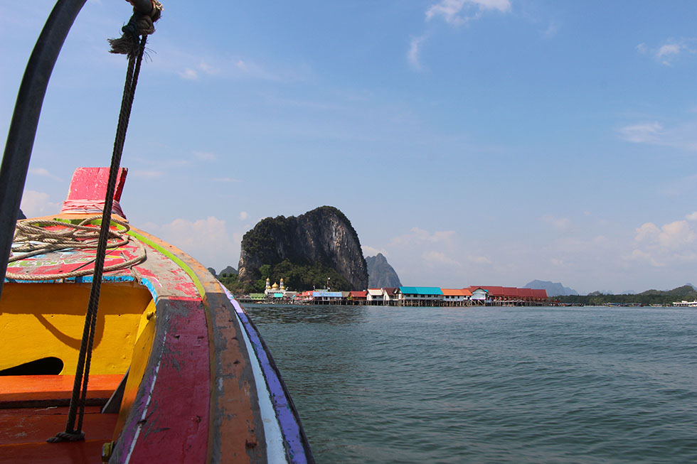 Panyi Village vanaf Boot