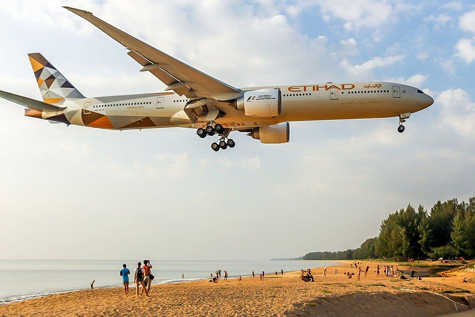 Mai Khao Beach Vliegtuig