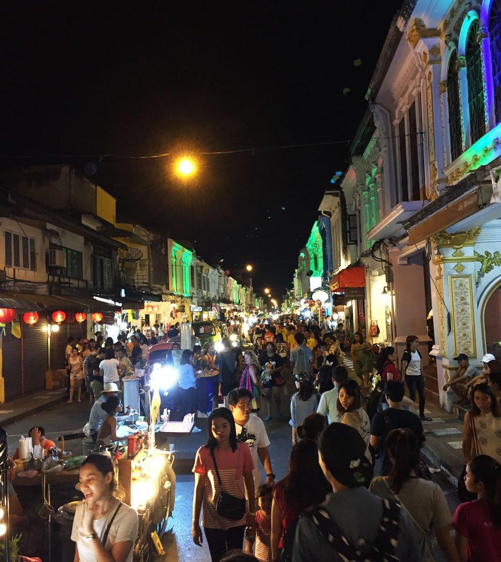 Phuket Old Town Market - Phuket bezienswaardigheden