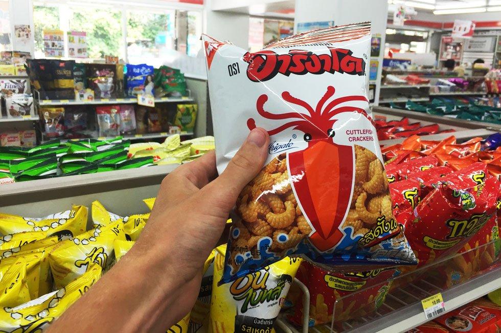 Arigato Cuttlefish Crackers - 7-Eleven Chips