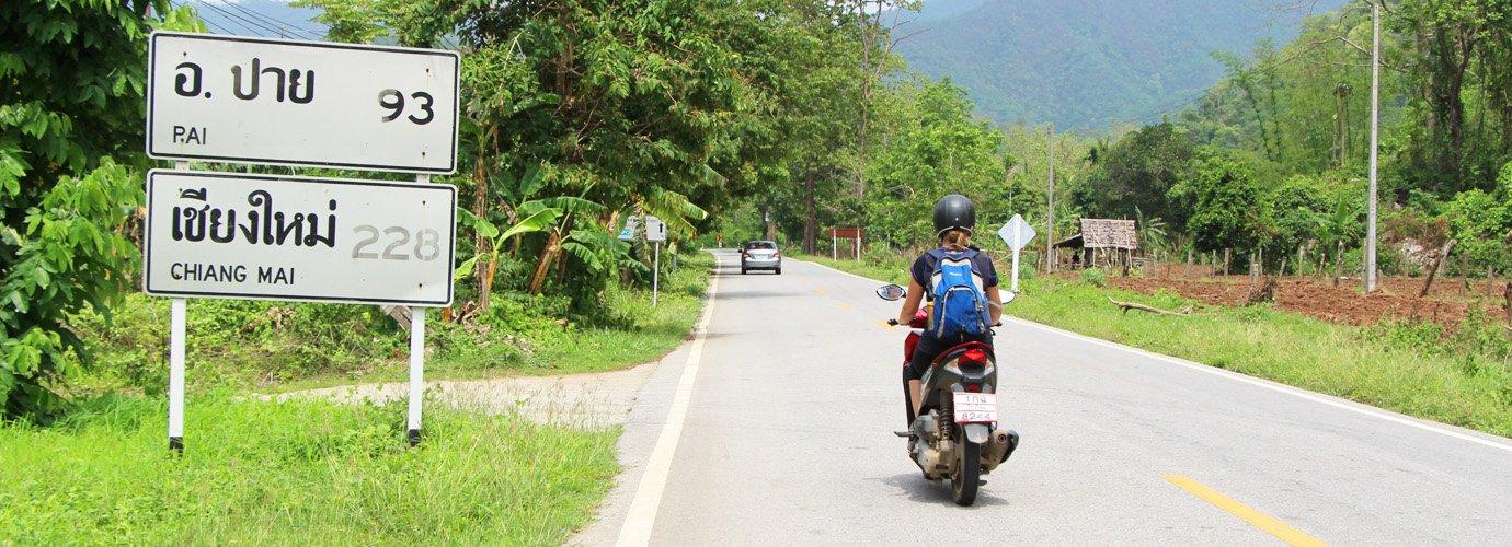 Scooter rijden in Pai