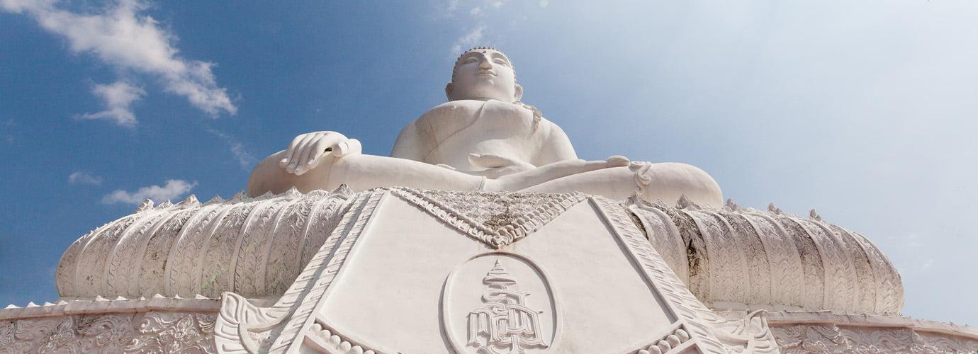 Witte Boeddha in Pai