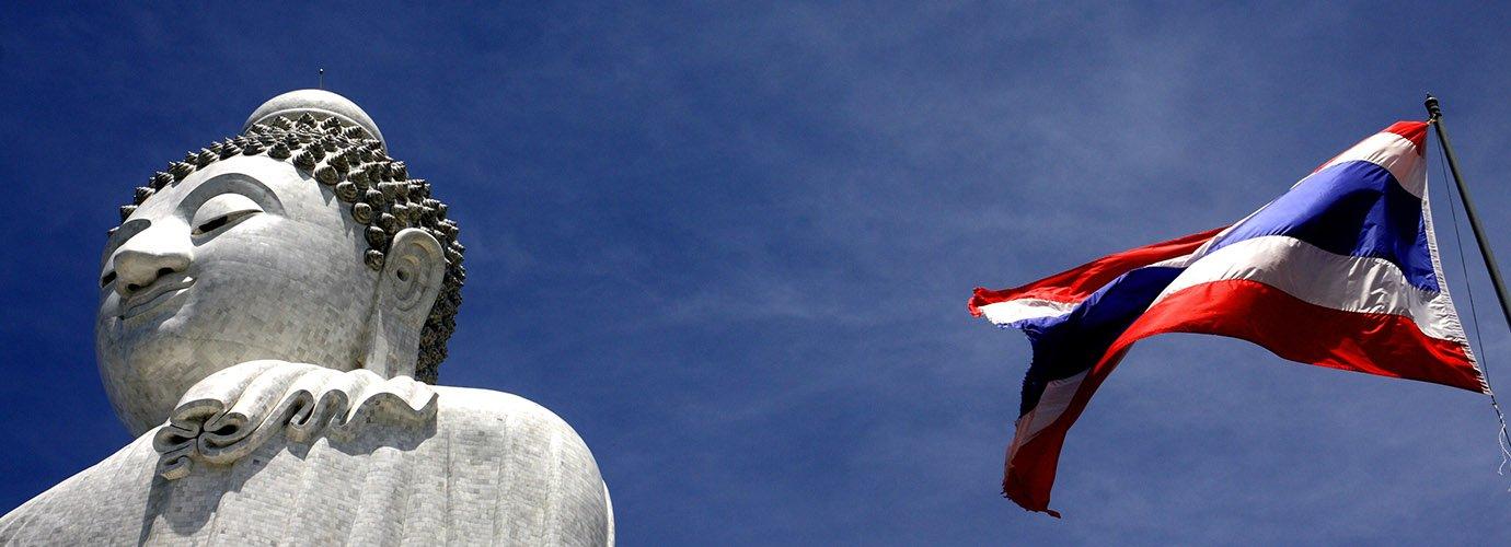 De grote witte Boeddha op Phuket