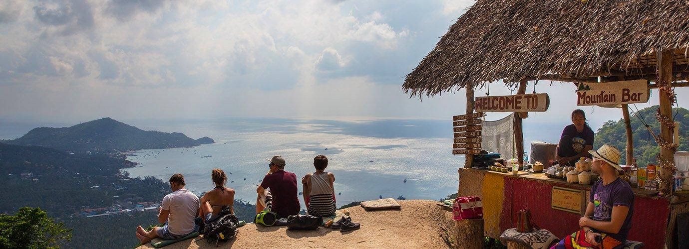 Het uitzicht met drankje - Mango Viewpoint