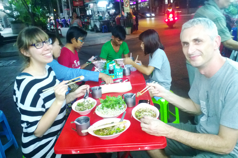Streetfood eten in Bangkok