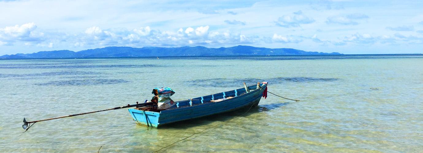 Bootje bij Ao Ban Thai