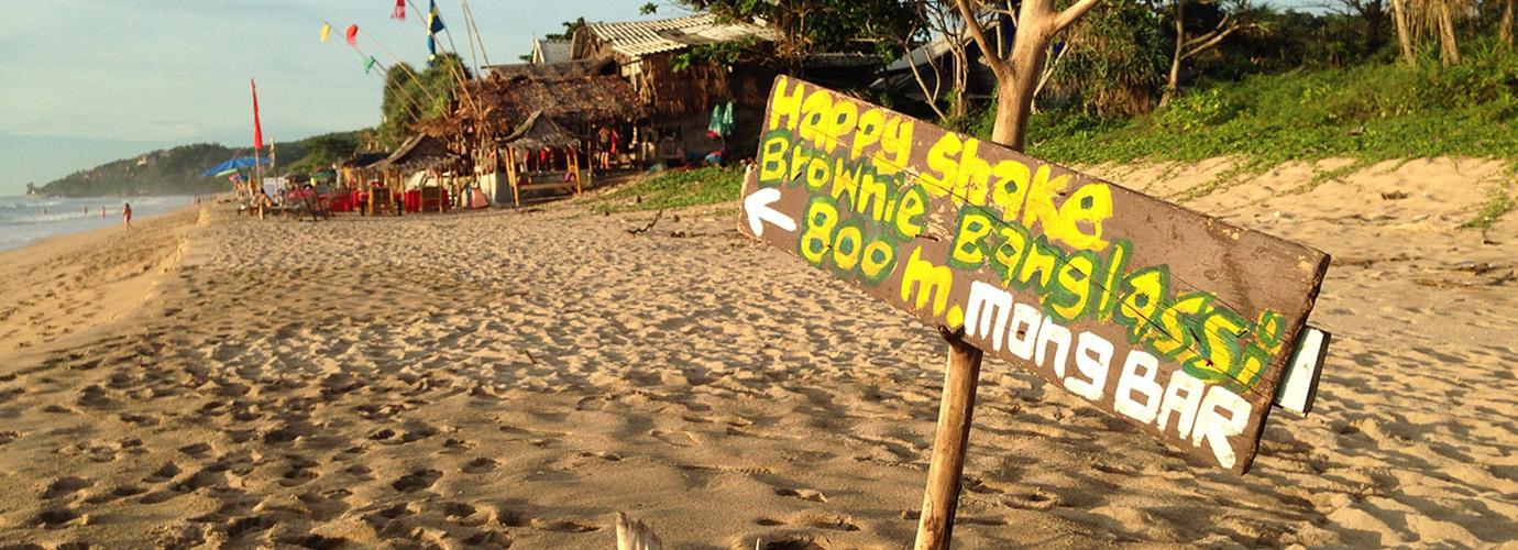 Eén van de vele hippe beach bars op Koh Lanta