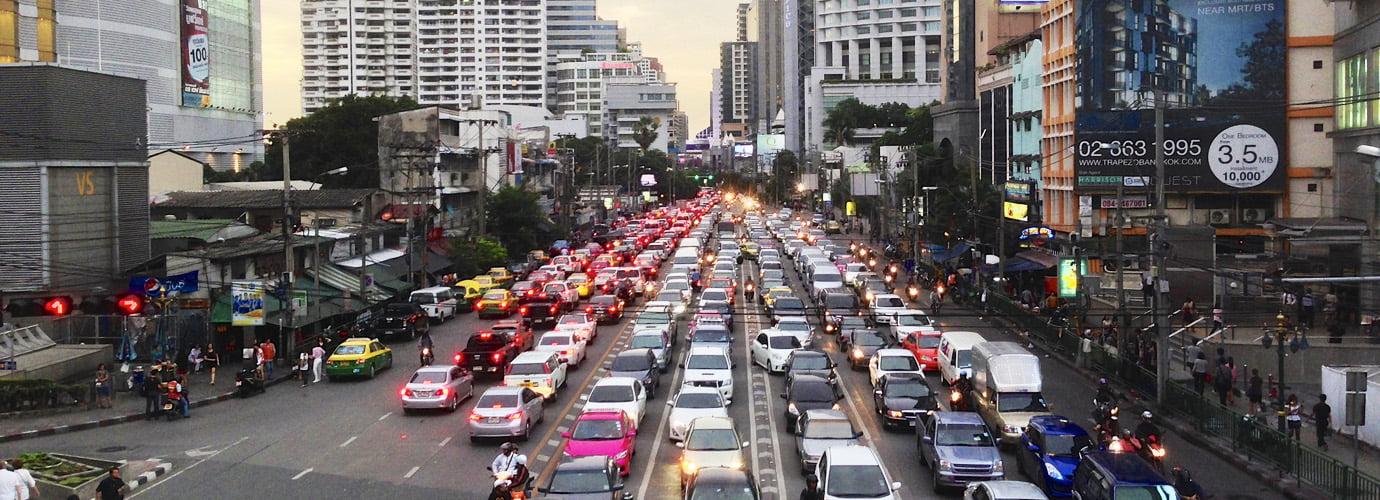Het verkeer in Bangkok