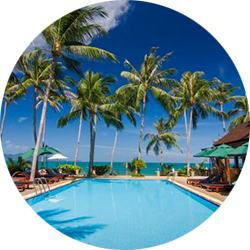 Coco Palm Beach Resort op Koh Samui