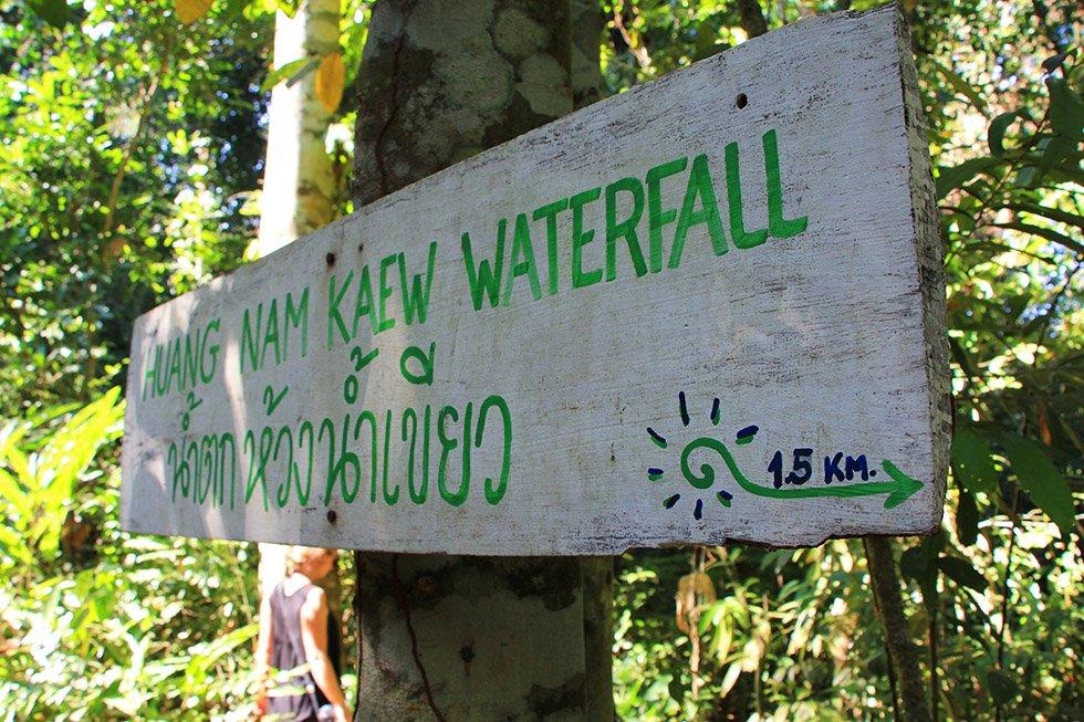 Huang Nam Kaew Waterval op Koh Kood