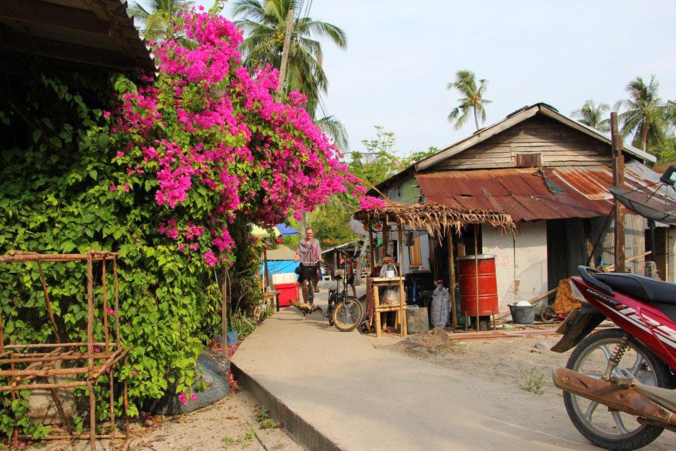 Fietsen op Koh Mook
