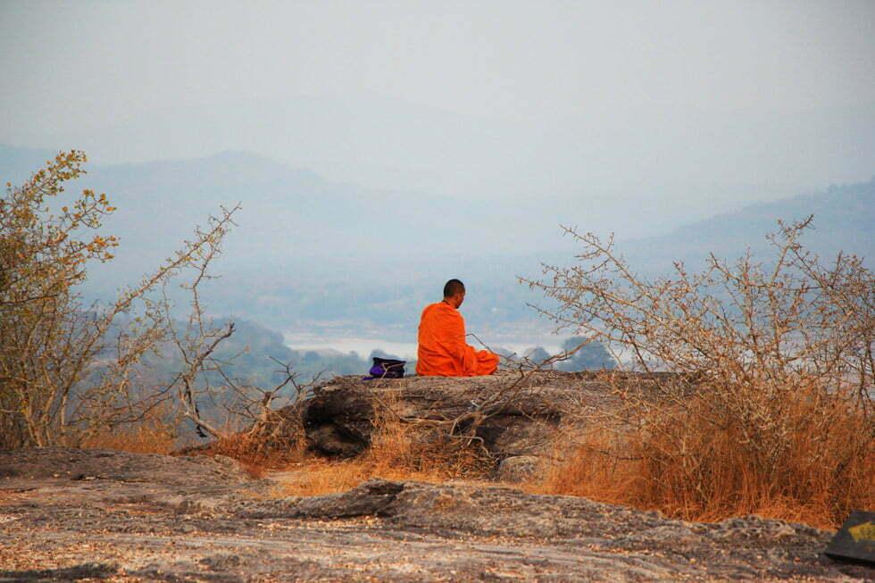 Zonsondergang bij de Mekong