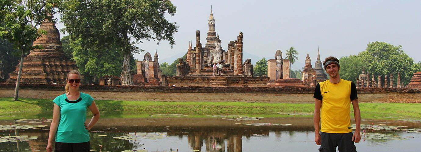 In het Sukhothai Historical Park