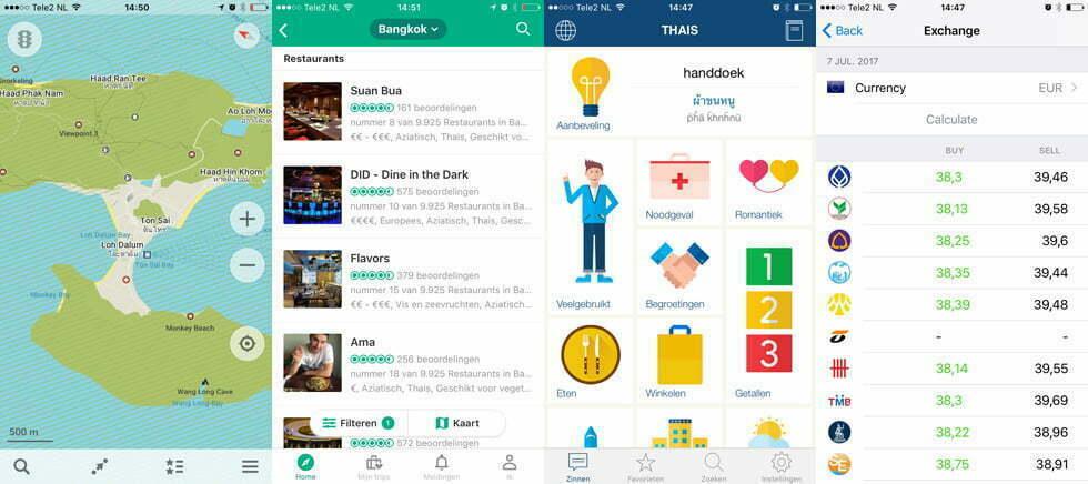Handige apps voor Thailand