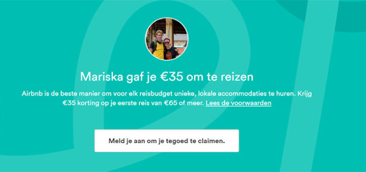 link voor airbnb korting van 35 euro