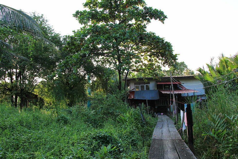 Een lokaal huisje in Bang Krachao