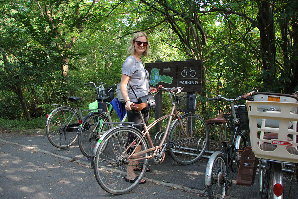Even de fiets parkeren