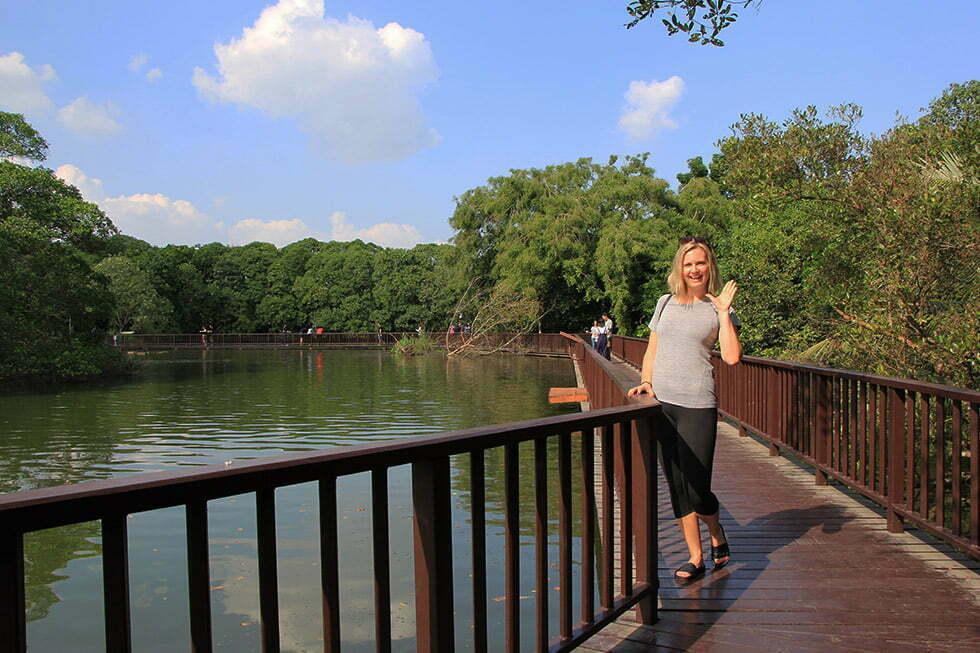 Leuk plekje om de vissen te voeren - Bang Krachao