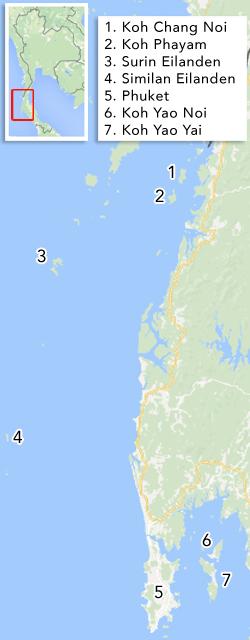 Eilanden in de Andamanse Zee
