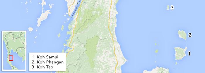 Eilanden in de Zuidoostelijke Golf van Thailand