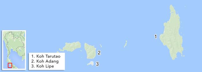 Eilanden in de Zuidelijke Andamanse Zee
