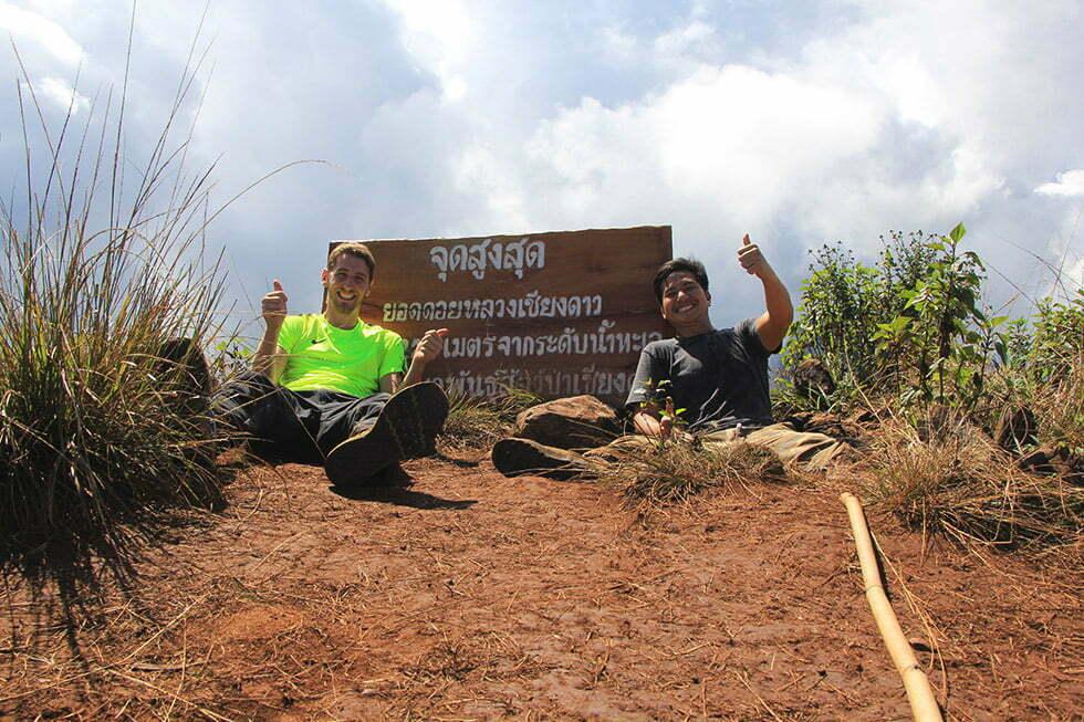 Op de top van Doi Luang Chiang Dao