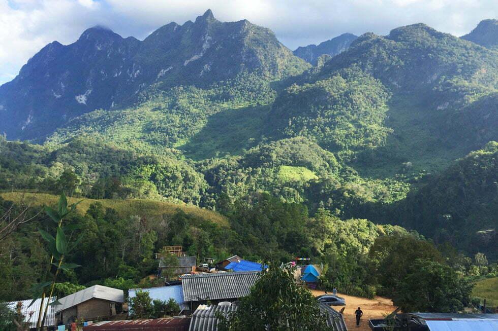 Uitzicht op Doi Luang vanaf het Lisu Dorpje