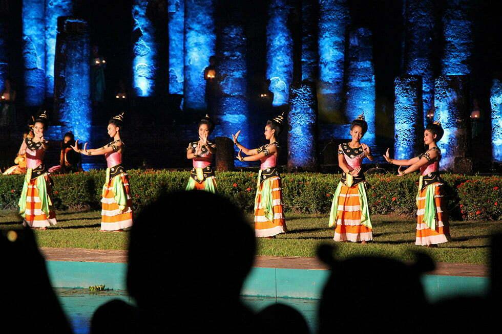 Light and Sound Show tijdens Loy Krathong in Sukhothai
