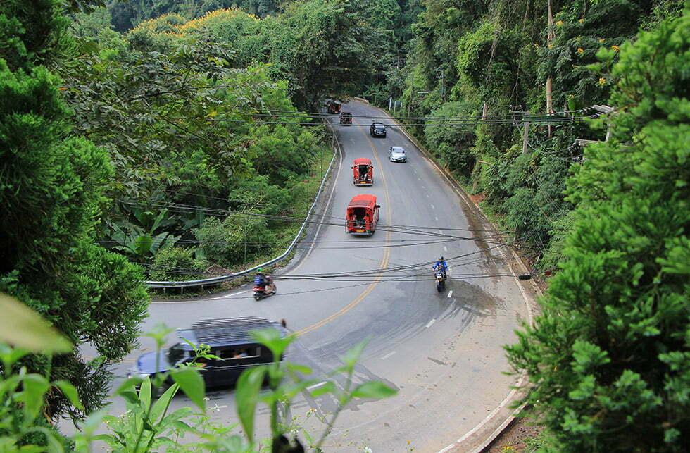 De weg naar Doi Suthep