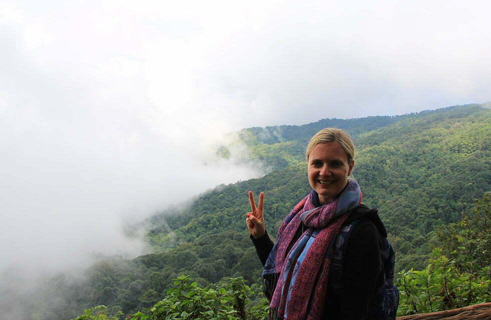 Wolken bij het Doi Pui Viewpoint