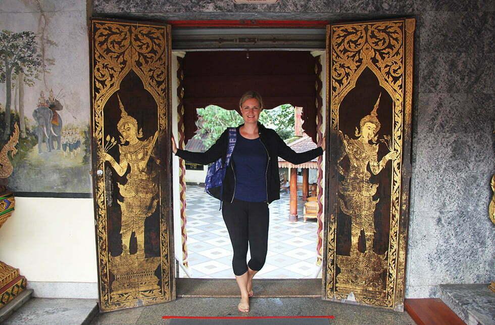 Deuren naar het binnengedeelte van de Wat Phra That Doi Suthep
