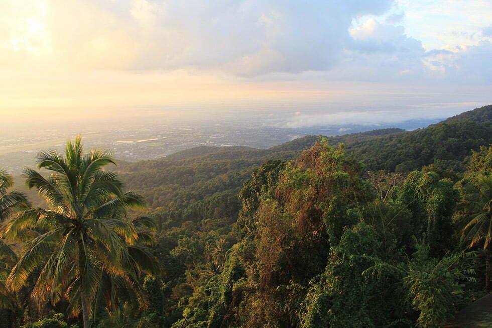 Uitzicht vanaf de Doi Suthep in Chiang Mai