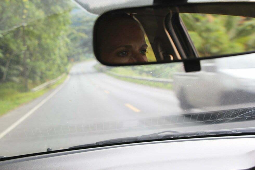 Mariska achter het stuur