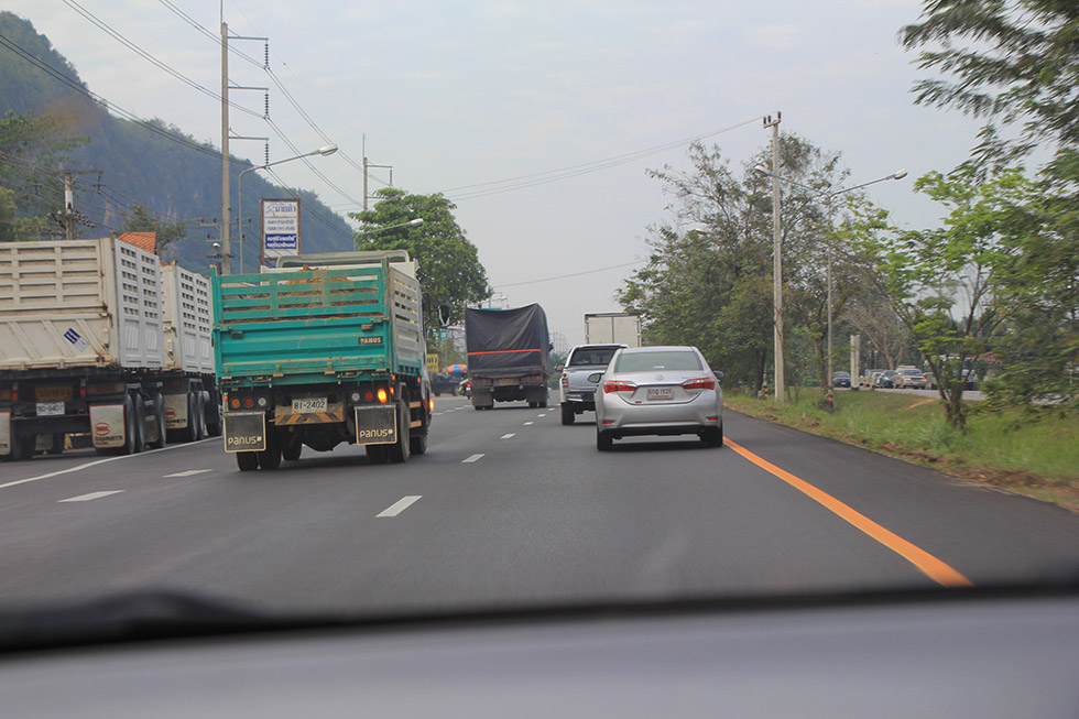 De verkeerssituatie in Thailand