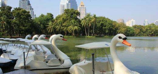 Bootje varen in Lumphini Park