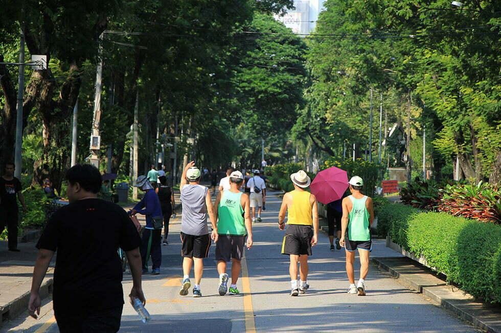 Lumphini Park is een geliefde plek om te bewegen