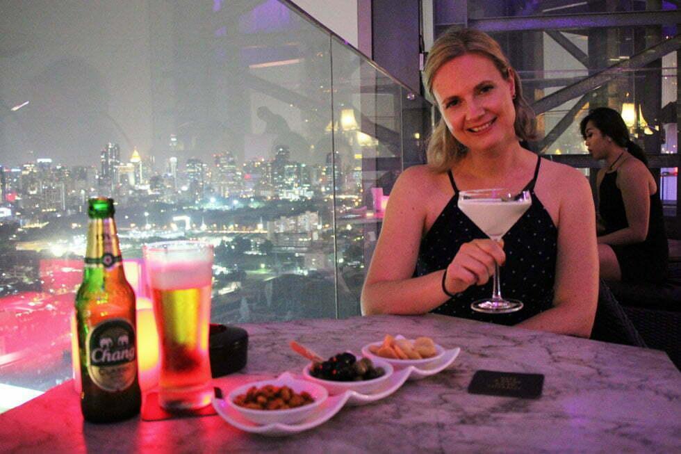 Mariska bij de HI-SO Rooftopbar