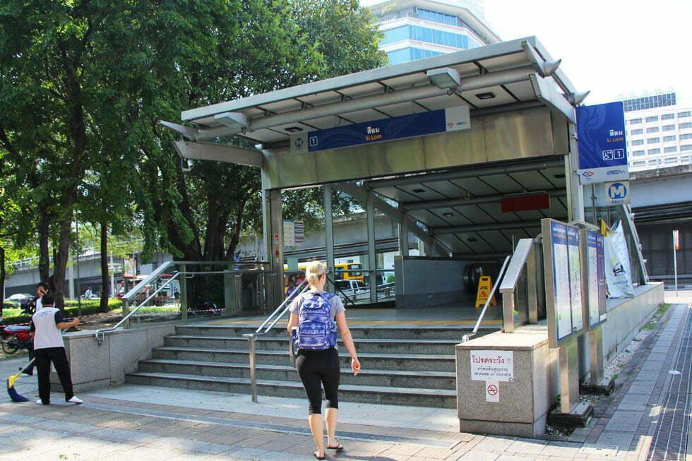 Metro halte Silom bij het Lumphini Park