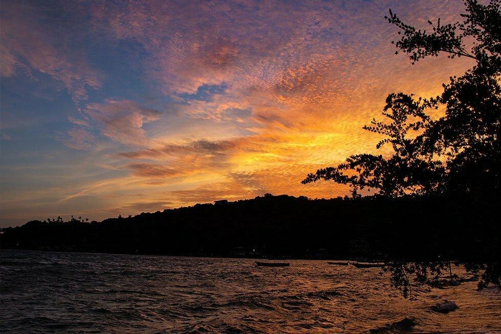Sunset bij Chalok Bay