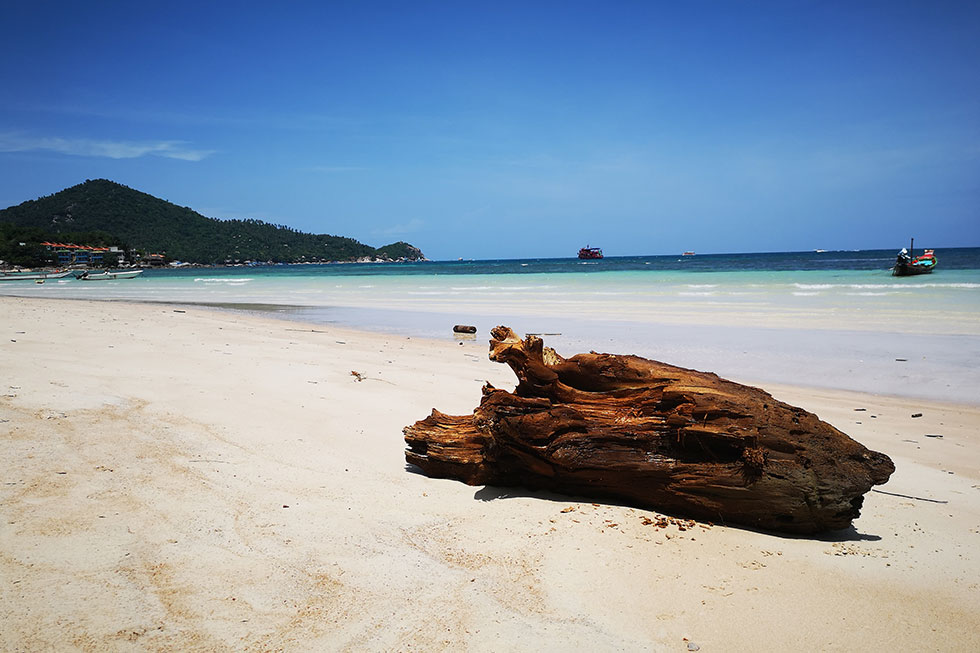 Sairee Beach op Koh Tao