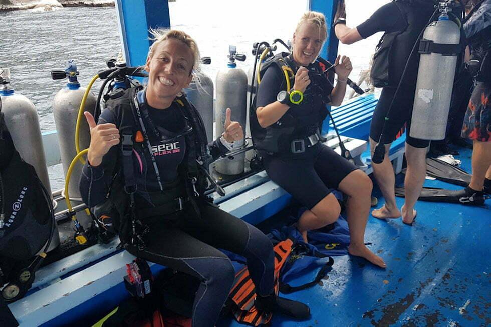 Sanne, duikinstructrice van Ban's Diving Resort