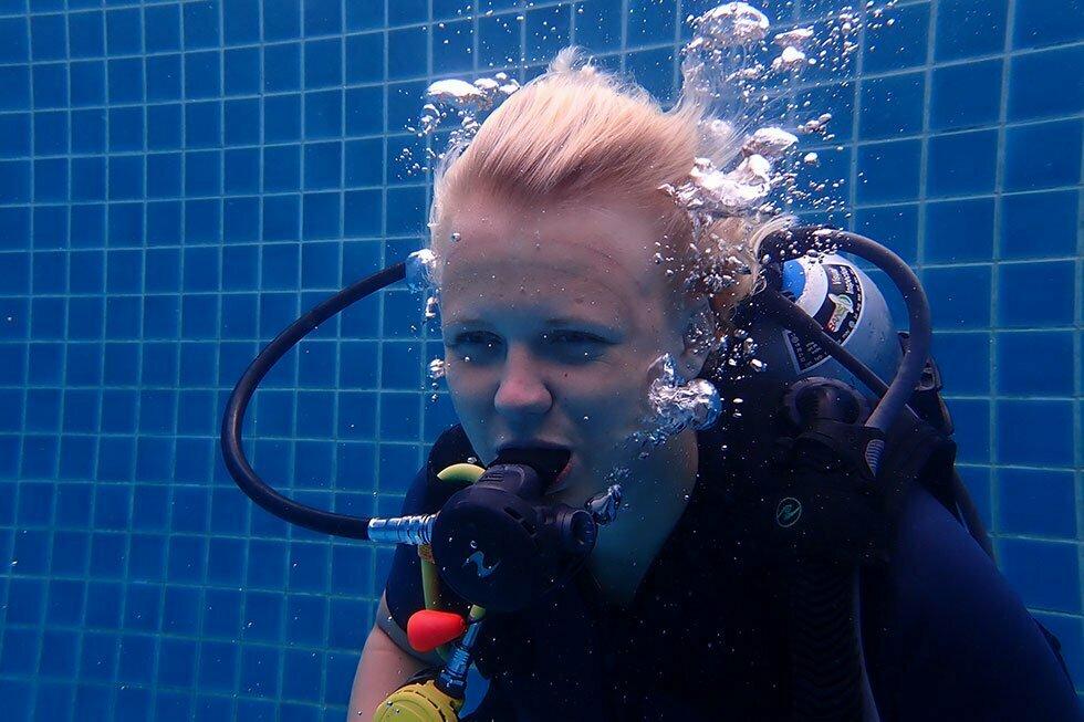 PADI Oefening zonder duikbril