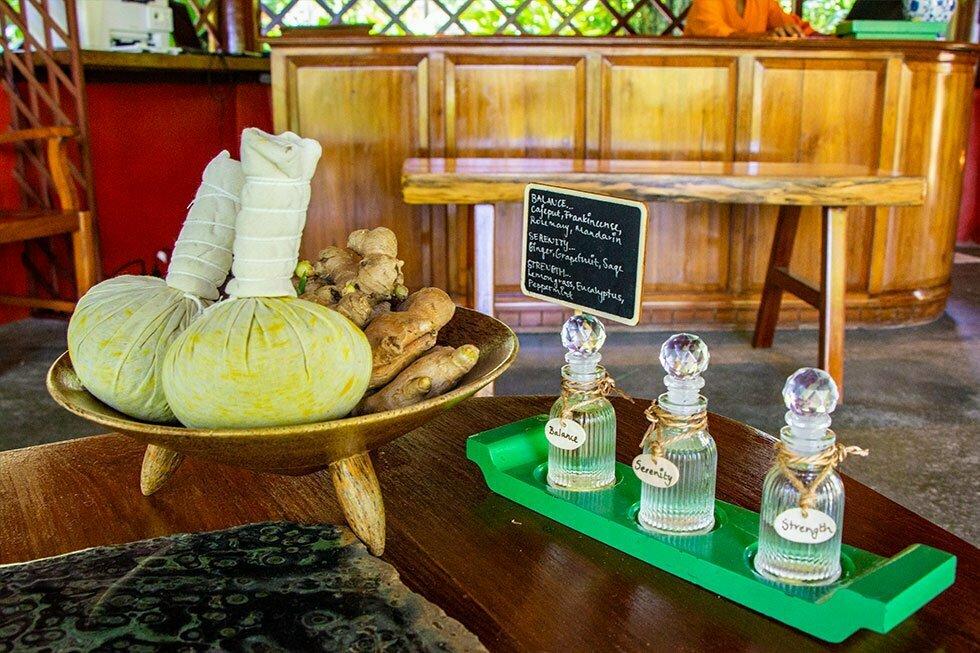 Benodigdheden massage Tamarind Forest Spa