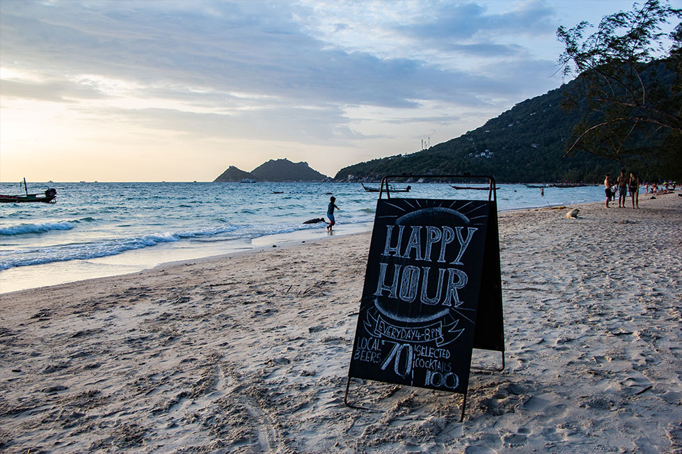 Happy Hour bij Blue Water, Koh Tao