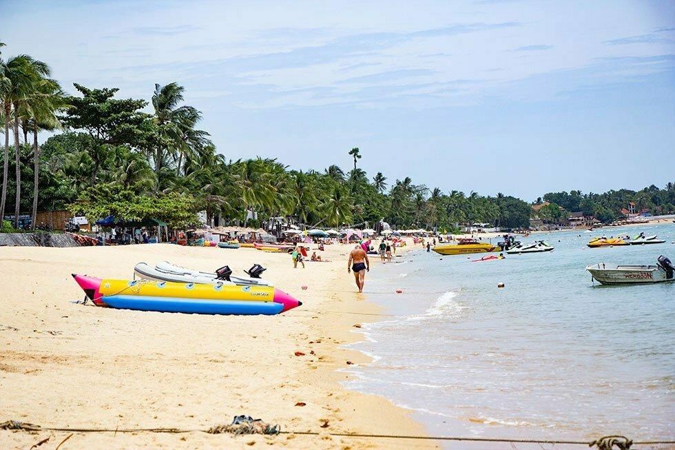 Bophut Beach op Koh Samui