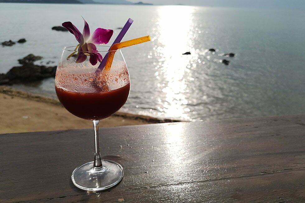 Drankbij drinken bij Sunset by Angelina.