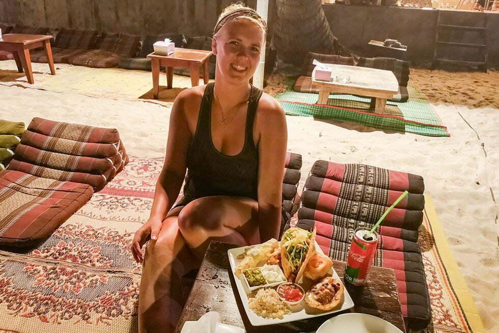 Diner bij Grand Beach Restaurant